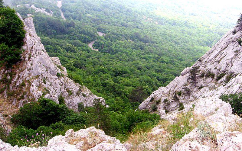 Вид с Чертовой лестницы - Крым