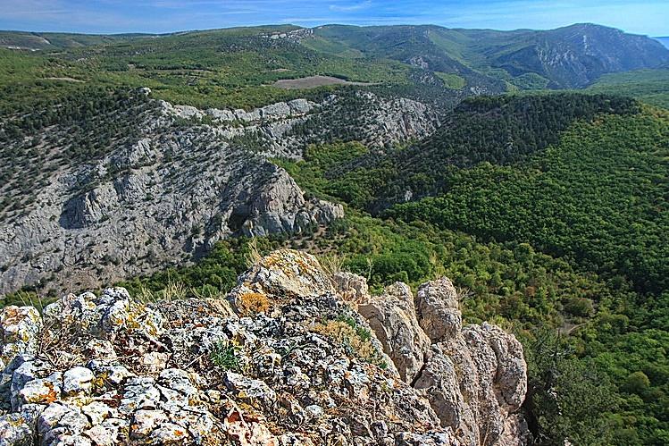 Каньон черной реки вид со склонов