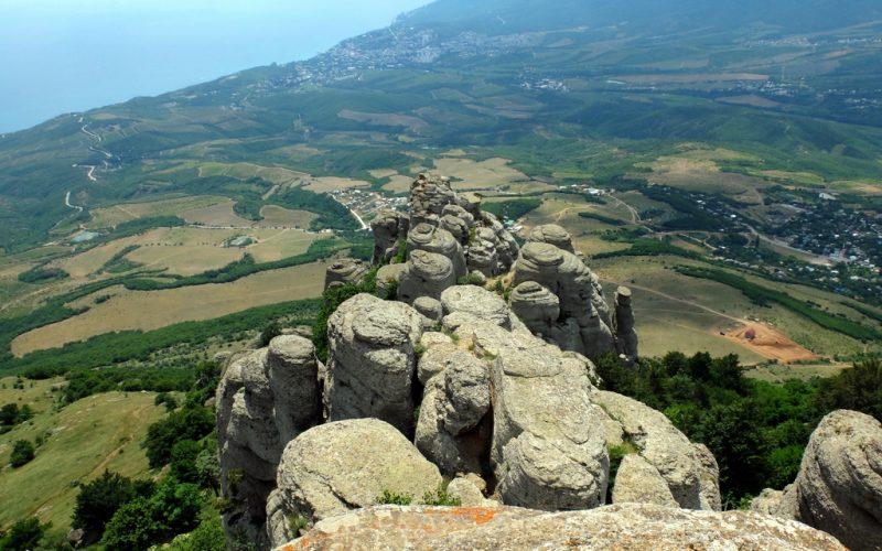 Вид с вершины Ю. Демерджи