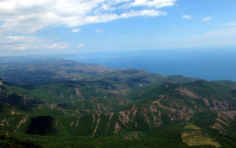 Ю. Демерджи - вид на море
