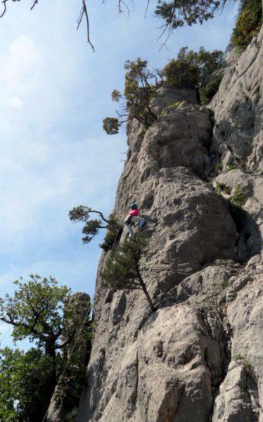Тренировка скалолазания