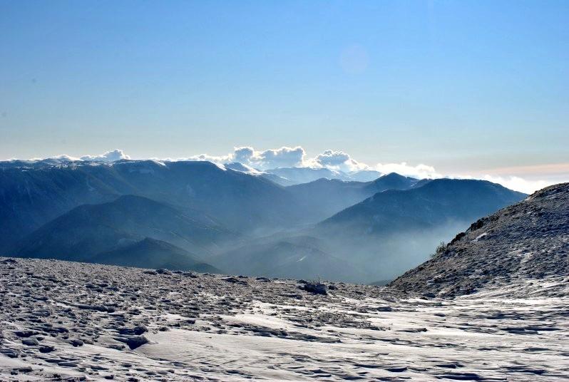 Зимнее высокогорное плато