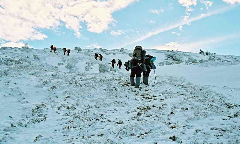 Восхождение на вершину Ангар-Бурун