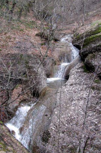 горная река с перепадами