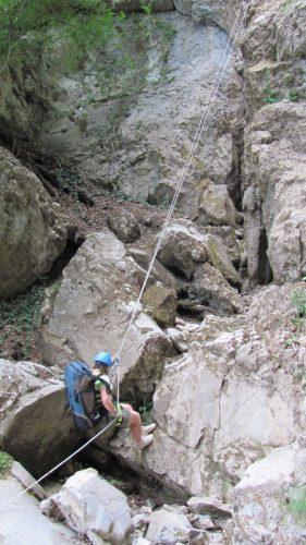 Дюльфер по крутым склонам